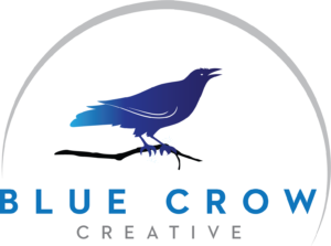 Blue Crow Logo Creative